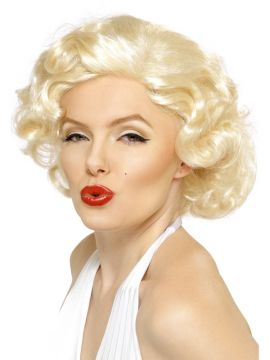 Marilyn Monroe Bombshell Wig For Sale - Marilyn Monroe Bombshell Wig, Short, in Display Box | The Costume Corner Fancy Dress Super Store