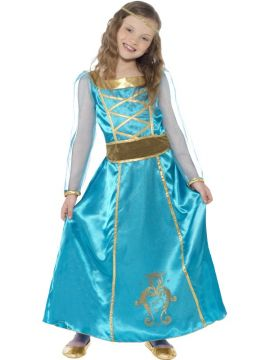 Medieval Maid For Sale - Time travel back to the medieval period and make like one of the princesses in the Medieval Maid Costume. With a dress, headband and attached mock belt, girls will look every i... | The Costume Corner Fancy Dress Super Store