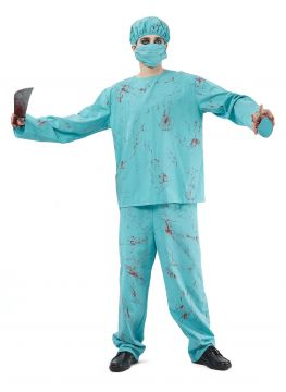 Mens Bloody Zombie Surgeon For Sale - Contains top, trousers, mask & hat