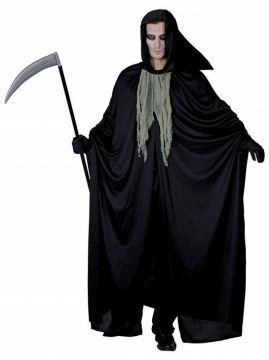 Mens Death Costume For Sale - Contains Hooded Cape and Jabot | The Costume Corner Fancy Dress Super Store