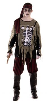 Mens Ghost Ship Pirate For Sale - Shirt, Belt, Trousers, Bandana & Boot Tops
