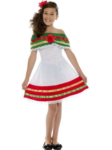 Mexican Girl For Sale - Mexican Girl Costume, Includes Dress and Headband | The Costume Corner Fancy Dress Super Store