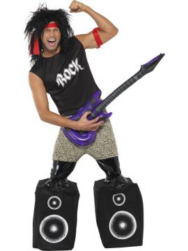Midget Rocker For Sale - Midget Rocker Standing On Speakers Costume, Top, Trousers With Speakers, Headband and Arm Band | The Costume Corner Fancy Dress Super Store