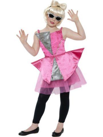 Mini Dance Diva For Sale - Mini Dance Diva girl costume. Includes pink and silver geometric dress. | The Costume Corner Fancy Dress Super Store
