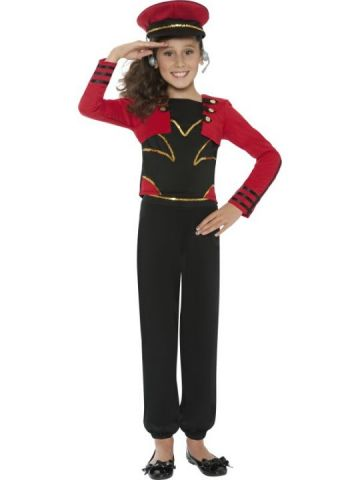 Mini Pop Starlet For Sale - Mini Pop Starlet Costume. Includes red and black military style popstar hat with gold trim and matching top and trousers. | The Costume Corner Fancy Dress Super Store