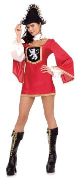 Miss Musketeer For Sale - Musketeer Dress and Hat. | The Costume Corner Fancy Dress Super Store