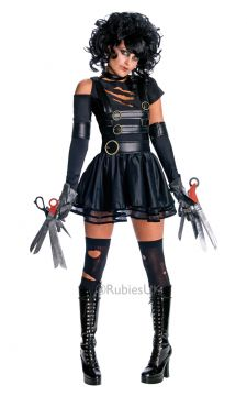 Miss Scissorhands For Sale - Dress with attached sleeve and sleevelet, gloves, wig, choker and belt. | The Costume Corner Fancy Dress Super Store