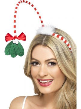 Mistletoe Kisses Headband For Sale - Mistletoe Kisses Headband. | The Costume Corner Fancy Dress Super Store