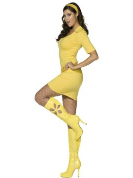 Mod Babe For Sale - Fever 60S Mod Costume, Yellow, With Dress, Belt and Headband | The Costume Corner Fancy Dress Super Store
