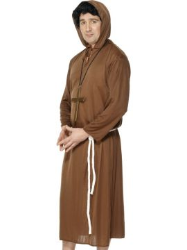Monk Costume, Adult For Sale - Monk Costume, Adult, Brown, includes Robe with Hood and Belt, in Display Bag | The Costume Corner Fancy Dress Super Store