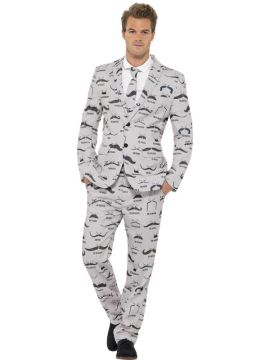 Moustache Suit For Sale - Moustache Suit, with Jacket, Trousers and Tie | The Costume Corner Fancy Dress Super Store