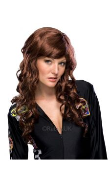 Movie Starlet - Auburn For Sale - Be gorgeous and glossy and go for the cover-girl looks of this movie starlet wig with its curls that provide a happy ending.  | The Costume Corner Fancy Dress Super Store