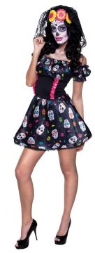 Mrs Day of the Dead For Sale - Dress & headband | The Costume Corner Fancy Dress Super Store