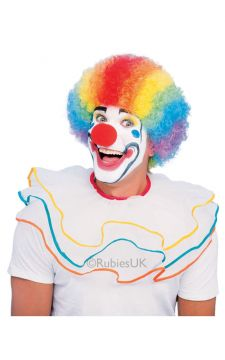 Multi Coloured Clown Wig For Sale - Rainbow Coloured Clown Wig | The Costume Corner Fancy Dress Super Store