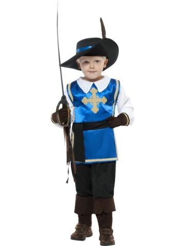 Musketeer For Sale - Musketeer Boy Costume. Includes hat, top, gloves and trousers. | The Costume Corner Fancy Dress Super Store