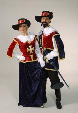 Musketeer Velvet Lady For Sale - Musketeer Velvet Lady (Hire Costume) | The Costume Corner
