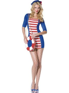 Nautical Sailor For Sale - Fever Nautical Sailor, With Dress and Hat | The Costume Corner Fancy Dress Super Store