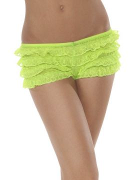 Neon Green Panties For Sale - Neon Green panties with ruffle | The Costume Corner Fancy Dress Super Store