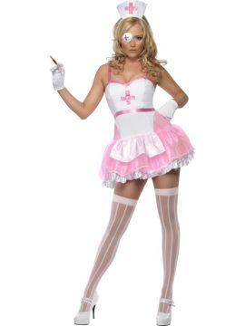 Nurse For Sale - Fever Nurse Costume, With Dress and Headpiece | The Costume Corner Fancy Dress Super Store