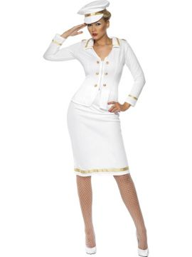 Officer's Mate For Sale - **Out of Stock**Officer's Mate Costume, White, Jacket, Pencil Skirt, Hat, | The Costume Corner Fancy Dress Super Store