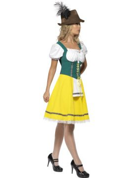 Oktoberfest Bavarian Ladies For Sale - Oktoberfest Costume, Female, Dress with Attached Apron | The Costume Corner Fancy Dress Super Store