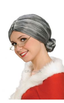 Old Lady Wig For Sale - Old Lady Wig in a grey bun style. | The Costume Corner Fancy Dress Super Store