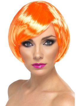 Babe Wig - Orange For Sale -  | The Costume Corner Fancy Dress Super Store
