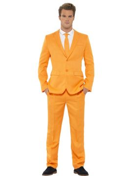 Orange Suit For Sale - Orange Suit, with Jacket, Trousers and Tie | The Costume Corner Fancy Dress Super Store