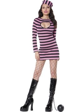 Convict - Pink For Sale - Fever Convict Costume, Pink, Dress and Hat | The Costume Corner Fancy Dress Super Store