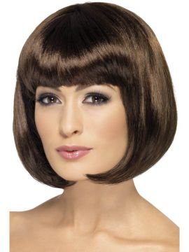 Partyrama Wig For Sale - Partyrama Wig, 12 inch, Dark Brown, Short Bob with Fringe | The Costume Corner Fancy Dress Super Store