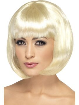 Partyrama Wig For Sale - Partyrama Wig, 12 inch, Light Blonde, Short Bob with Fringe | The Costume Corner Fancy Dress Super Store