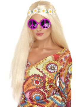 Peace Sign Sunglasses For Sale - Peace Sign Sunglasses, Pink | The Costume Corner Fancy Dress Super Store
