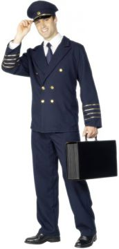 Pilot Costume For Sale - Pilot Costume Includes Navy Blue Jacket, Trousers and Hat. | The Costume Corner Fancy Dress Super Store