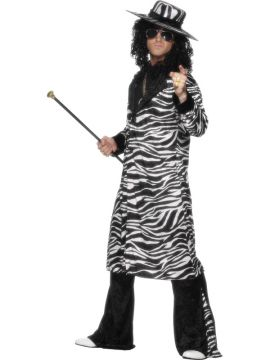 Pimp Daddy For Sale - Pimp Daddy Costume includes black and white jacket, trousers and matching black and white hat. You can own the room at your 70s themed party in this funky get up! Match with a ... | The Costume Corner Fancy Dress Super Store