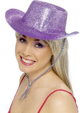Cowboy Hat - Purple For Sale - Sparkly Purple Cowboy Hat | The Costume Corner Fancy Dress Super Store