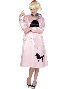 Pink Poodle dress For Sale - Grease Poodle Costume, Pink, With Dress, Jacket and Scarf, 1950'S Style | The Costume Corner Fancy Dress Super Store