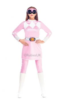 Pink Ranger For Sale - It may be more than 20 years since Zordon first recruited his five teenagers with attitude, but the Pink Power Ranger is as fresh and fragrant as ever. Now it's your turn to st... | The Costume Corner Fancy Dress Super Store