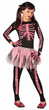 Pink Skeleton For Sale - Includes: Shirt; Leggings; Tutu & Gloves.  | The Costume Corner Fancy Dress Super Store