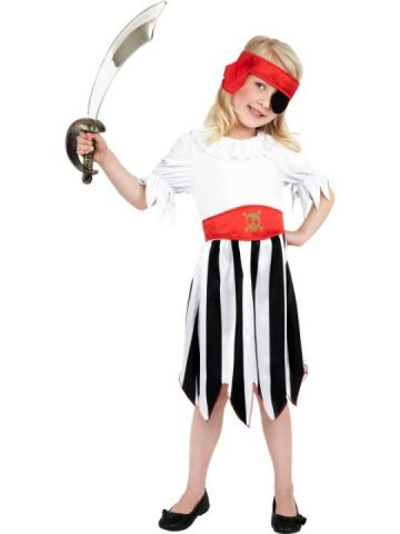 Pirate Girl For Sale - Pirate Girl Costume. Includes Dress and Headband | The Costume Corner Fancy Dress Super Store