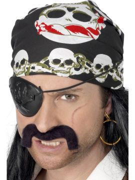 Pirate Bandanna For Sale - Pirate Bandanna, with Skull and Crossbones Print | The Costume Corner Fancy Dress Super Store