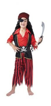 Pirate Boy For Sale - Contains shirt with attached vest, trouser, belt, bandana & eye patch