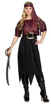 Pirate Maiden For Sale - Headband, dress & belt | The Costume Corner Fancy Dress Super Store