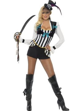 Pirate Princess For Sale - Fever Pirate Princess Costume, With Shorts, Top and Fascinator | The Costume Corner Fancy Dress Super Store