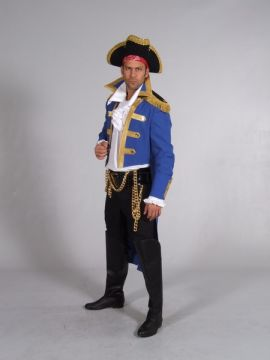 Pirate - Royal Blue For Sale - Pirate Royal Blue (Hire Costume) | The Costume Corner