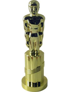Oscar Statue For Sale - Plastic Statue, Gold | The Costume Corner Fancy Dress Super Store