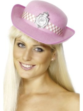 Police Hat For Sale - Pink Police Hat with attached Badge. | The Costume Corner Fancy Dress Super Store