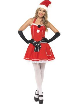 Pom Pom Santa For Sale - Pom Pom Santa Costume, Red, includes Dress with Belt and Hat, in Display Bag | The Costume Corner Fancy Dress Super Store