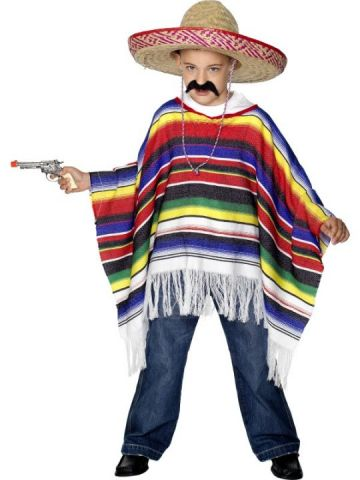 Poncho For Sale - Multi-Coloured Poncho fits all sizes for sale | The Costume Corner Fancy Dress Super Store