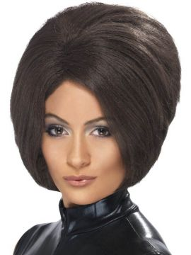 Posh Power Wig For Sale - Posh Power Wig, Brown, Short Bob | The Costume Corner Fancy Dress Super Store