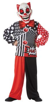 Pow Wow Clown For Sale - Mask, bowtie, shirt & matching trousers | The Costume Corner Fancy Dress Super Store